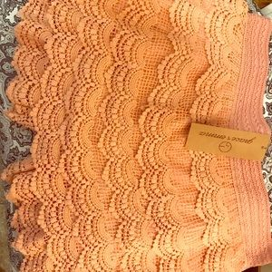 Peach colored Lace shorts